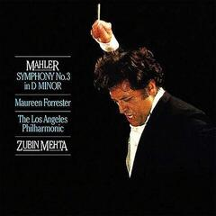 Zubin Mehta Mahler: Symphony No. 3 In D Minor/ Forrester (2 LP) Audiophile Quality