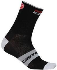 Castelli 17036 Rosso Corsa 6 Sock Black S/M