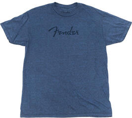 Fender Distressed Logo Premium T-Shirt Indigo Black