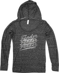 Fender Ladies Long Sleeve Top with Hood Grey XL