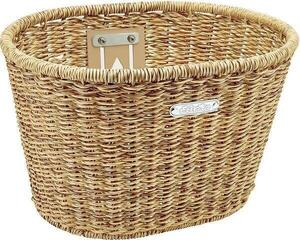 Electra Plastic Woven Basket Light Brown