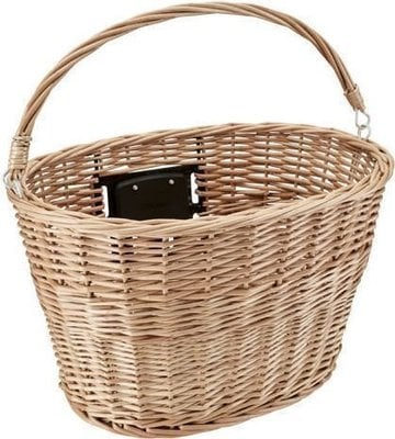 Electra QR Wicker with Handle Front Basket Natural