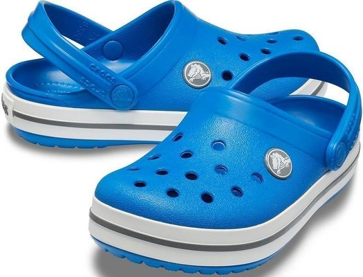 Crocs Kids' Crocband Clog Bright Cobalt/Charcoal 28-29