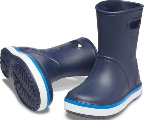 Crocs Kids' Crocband Rain Boot Navy/Bright Cobalt 33-34
