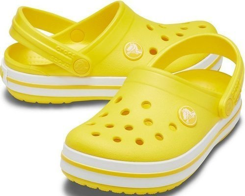 Crocs Kids' Crocband Clog Lemon 24-25