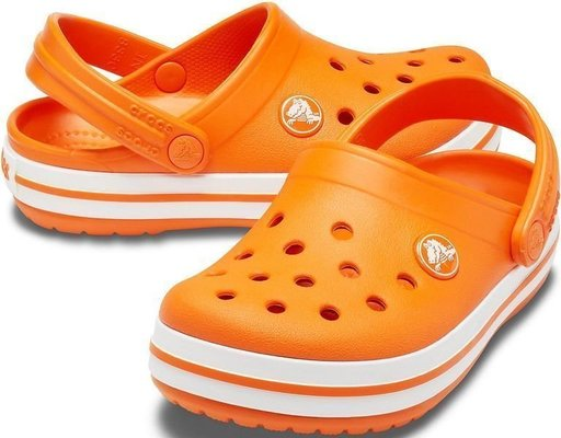 Crocs Kids' Crocband Clog Orange 27-28