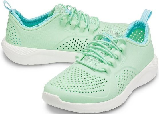 Crocs Kids' LiteRide Pacer Neo Mint/White 29-30