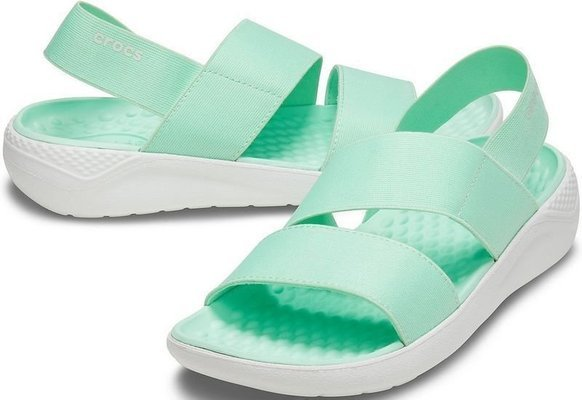 Crocs Women's LiteRide Stretch Sandal Neo Mint/Almost White 34-35