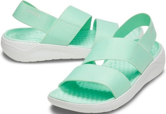 Crocs Women's LiteRide Stretch Sandal Neo Mint/Almost White 38-39