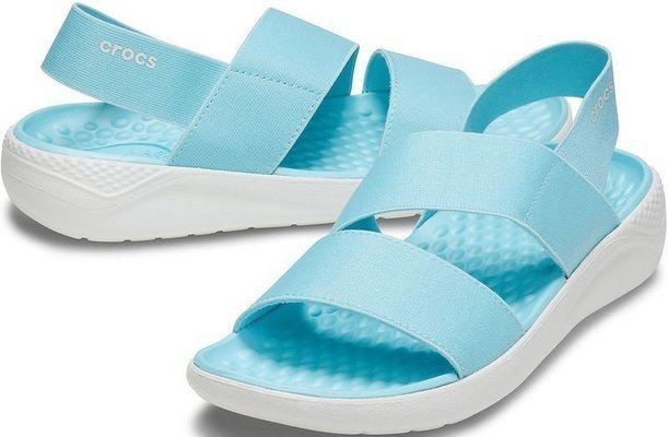 Crocs Women's LiteRide Stretch Sandal Ice Blue/Almost White 38-39