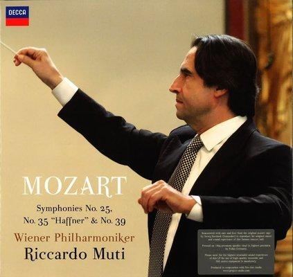 Riccardo Muti Mozart Symphonies Nr. 25, 35, 39 (2 LP) Audiophile Qualität
