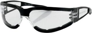 Bobster Shield II Adventure Sunglasses Black Lenses Clear