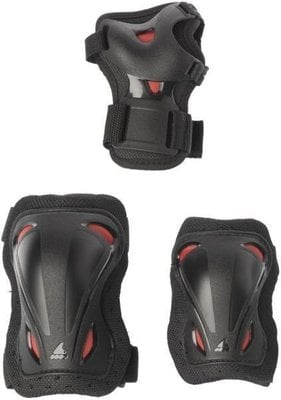 Rollerblade Skate Gear Junior 3 Pack Black/Red 3XS