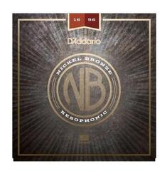 D'Addario NB1656 Nickel Bronze Acoustic, Resophonic, 16-56