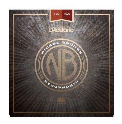 D'Addario NB1656 Nickel Bronze Acoustic, Resophonic, 16-56
