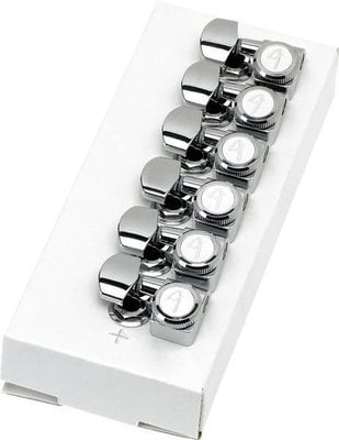 Fender Locking Stratocaster/Telecaster Tuning Machines Polished Chrome LH 6 Pack