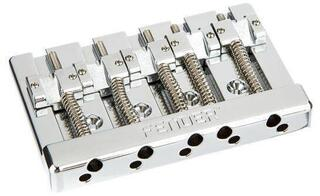 Fender HiMass 5-String Bass Narrow Bridge Assembly with Brass Saddles Chrome