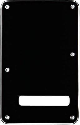 Fender Backplate Stratocaster Black BWB 3-Ply