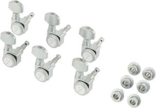 Fender Locking Stratocaster/Telecaster Tuning Machines Brushed Chrome 6 Pack