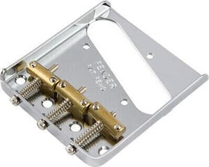 Fender 3-Saddle American Vintage Telecaster Bridge Assembly with Brass Saddles Chrome
