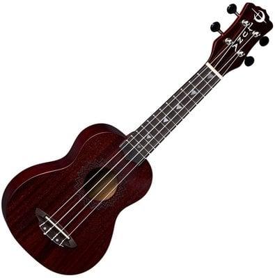 Luna Vintage Mahogany Soprano Red Satin