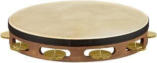 Meinl Vintage Goat Skin Wood Tambourine 1 Row