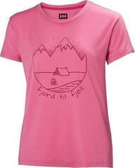 Helly Hansen W Skog Graphic T-Shirt Azalea Pink