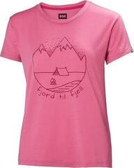 Helly Hansen W Skog Graphic T-Shirt Azalea Pink
