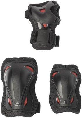 Rollerblade Skate Gear Junior 3 Pack Black/Red XS