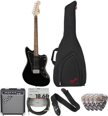Fender Squier Affinity Series Jazzmaster HH IL Deluxe SET Czarny
