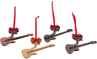 Fender Official Guitar with Bow Christmas Tree Ornaments Set of 4