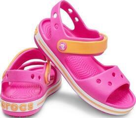 Crocs Kids' Crocband Sandal Electric Pink/Cantaloupe