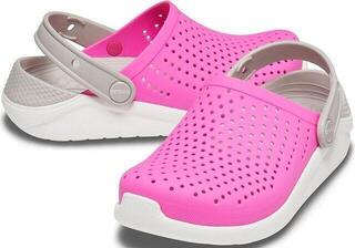 Crocs Kids' LiteRide Clog Electric Pink/White 32-33
