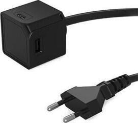 PowerCube USBcube Extended USB A+C Black
