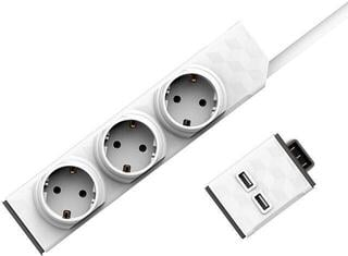 PowerCube PowerStrip Modular Switch 1,5m cable + USB modul