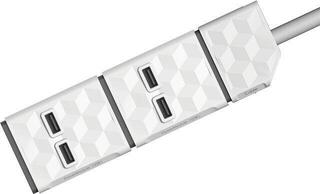 PowerCube Power Modul E/F + 2xUSB White 1,5 m
