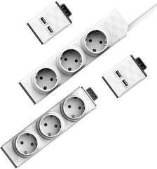 PowerCube PowerStrip Modular Switch 1,5m + modul Strip + 2x USB modul
