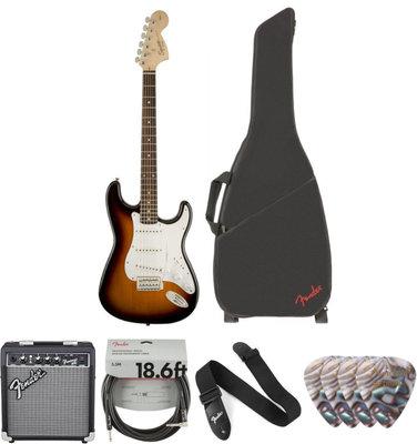 Fender Squier Affinity Series Stratocaster IL Brown Sunburst Deluxet SET