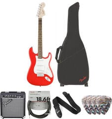 Fender Squier Affinity Series Stratocaster IL Race Red Deluxe SET