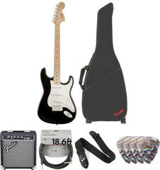 Fender Squier Affinity Series Stratocaster Black/Deluxe Set
