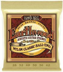 Ernie Ball 2069 Earthwood Folk Nylon Ball End 80/20 Bronze Acoustic