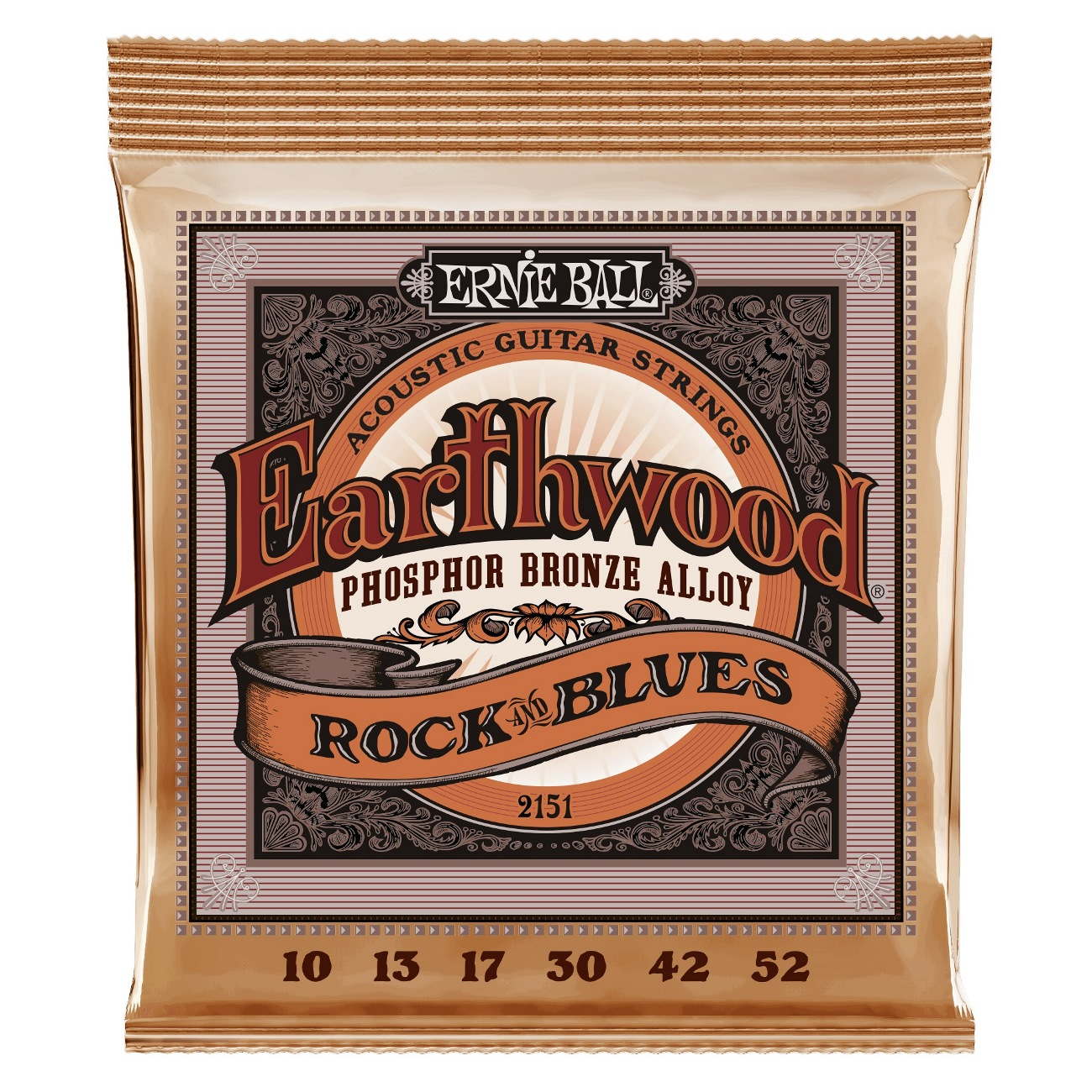 Ernie Ball Earthwood Rock /& Blues Phosphor Bronze Acoustic Guitar Strings P02151