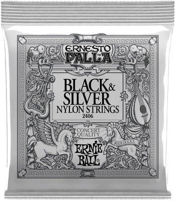 Ernie Ball 2406 Ernesto Palla Black & Silver Nylon Classical