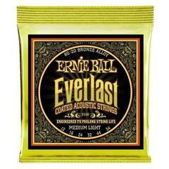 Ernie Ball 2556 Everlast Medium Light Coated 80/20 Bronze Acoustic