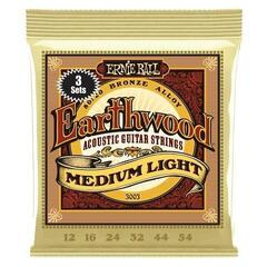 Ernie Ball 3003 Earthwood Medium Light 80/20 Bronze Acoustic 3 Pack