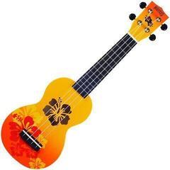 Mahalo Soprano Ukulele Hibiscus Orange Burst