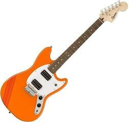 Fender Squier FSR Bullet Competition Mustang HH IL Competition Orange with Fiesta Red Stripes