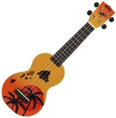 Mahalo Hawaii Ukulélé soprano Hawaii Orange Burst