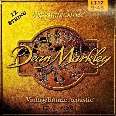 Dean Markley 2202 LT 9-46 VintageBronze 12 String Acoustic