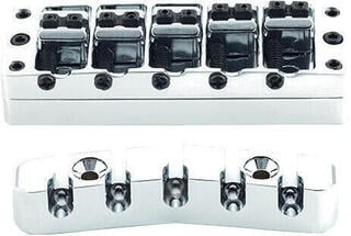 Warwick 2-Piece 3D Bridge & Tailpiece 5-String Chrome